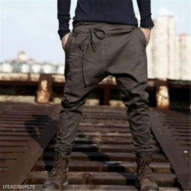 Fashion Youth Casual Sport Loose Plain Long Pants