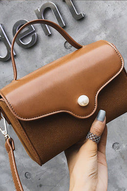 Fashion Casual Leather One Shoulder Small Hand Bag