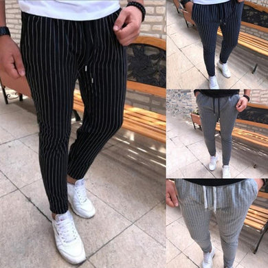 Fashion Men's Striped Casual Pants