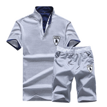 Load image into Gallery viewer, Men's Solid Color POLO Casual Sports Set