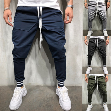 Men's Hip Hop Solid Color Fashion Jogger Pants