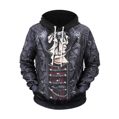 Men's Fashion Pirate Print Hoodie