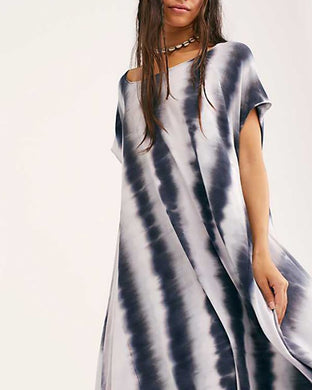 Casual Striped Gradient Shift Dresses