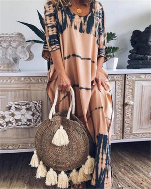 Casual Printed Half Sleeve Dress