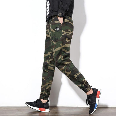 Men's Casual Pants Loose Feet Camouflage Pants