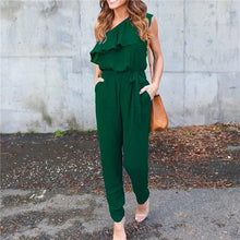 Load image into Gallery viewer, Ladies Party Ruffle Jumpsuit Romper Trousers