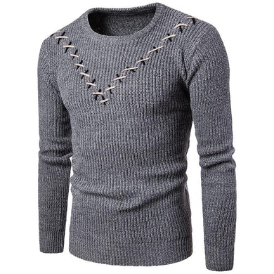 V-Neck Men's Casual Pullover Round Neck Sweater