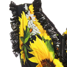 Load image into Gallery viewer, Sunflower Printed Jumpsuit