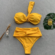 Load image into Gallery viewer, One Shoulder  Plain Bikini