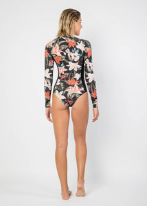 New Classic Floral Black One Piece