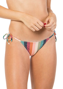 Rainbow Lines Tie Side Bottom