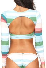 Surf Stripes Sunset Bikini Top
