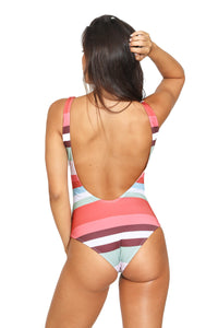 Stripes Buttons One Piece