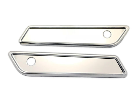 #104721 Saddle Bag Latch Covers, Smooth, Chrome  14-19 FLHT / FLHR / FLTRX / FLHX