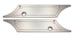 #104710 Saddle Bag Latch Covers, Smooth, Chrome, 1993-13 Touring