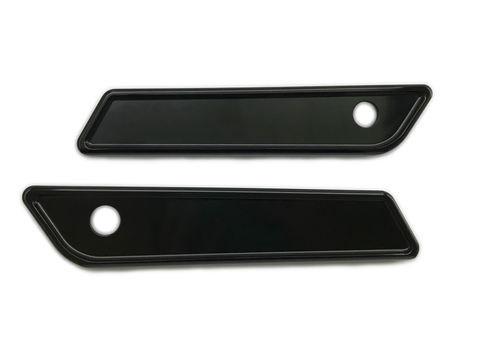 #104721B Saddle Bag Latch Covers, Smooth, Black 14-19 FLHT / FLHR / FLTRX / FLHX