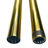 49mm, Touring Fork Tubes, Gold TIN, 14- 20 Touring