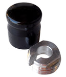 #200210B Pro-One Billet Choke Knob Cover ,Smooth, Black Anodized