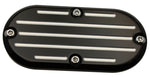 #202150B Inspection Cover,Ball Milled,Black, 84-06 FX/FL, FXST/FLST, FXWG, 93-05 FXDWG Models