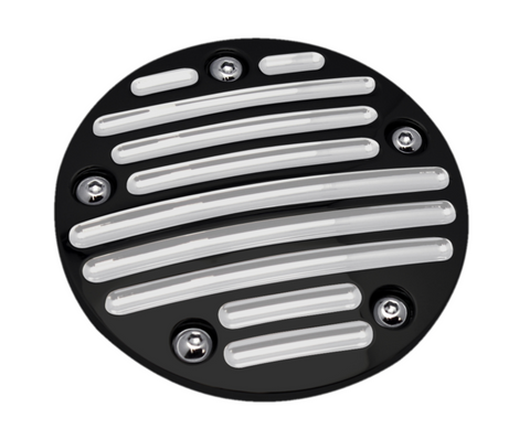 #203910B Point Cover, 5-Hole, Millennium, B-Milled, Black, Twin Cam, 99-2017