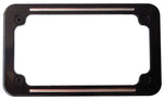 "#300990B Custom Billet License Frame, Ball Milled, Black Anodized,  7-1/4"" x 4-1/4"""