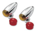 #400360 Turn Signal, Chrome Bullet, Ball Milled, Pair