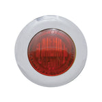 #402210  Mini Marker Light, Dual Function, w/Red Lens, (3) Red LED, 1-1/8""