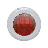 "#402210  3 Red LED, Dual Funct, 1-1/8"" Mini Marker Light w/Red Lens, S/S"