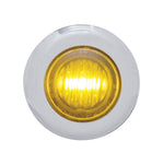 "#402220  3 Amber LED, Dual Funct, 1-1/8"" Mini Marker Light w/Clear Lens, S/S"