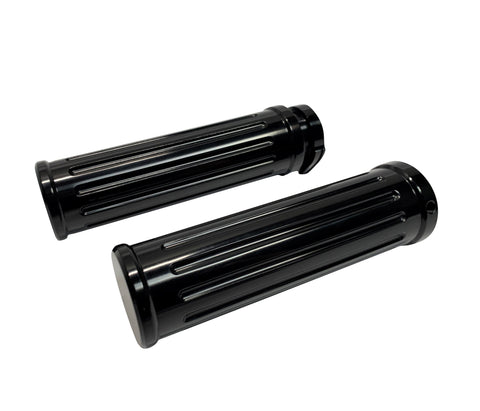 #500560B Grips, Pair, Smooth End, Black Billet