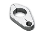 #500660 Billet Clamp, Clutch Cable, 1 inch Frame Size, Chrome