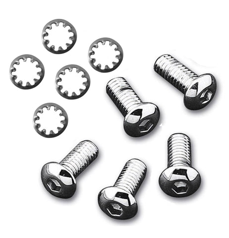 "#600899 Bolt Kit, 3/8"", for Rear Rotor (5 bolts & washers), Chrome"