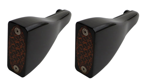 #909100B Billet Signal Lights, Front, Amber LED,  Black, 98-13 FLTR, Pair