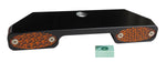 #909101B Billet Turn Signal Bar w / AMBER  LED, Black, Narrow Glide, FL, Fx, xL