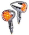 #AC-1032 LED Shorty Chrome Bullet Turn Signal, pr