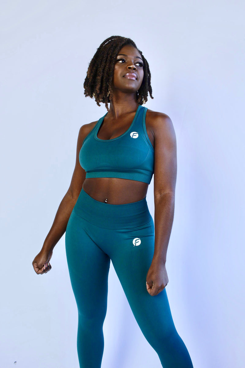 FLEXI-STRETCH Seamless Set - Jungle Green