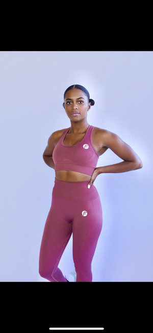 FLEXI-STRETCH Seamless Legging (Earth Red)