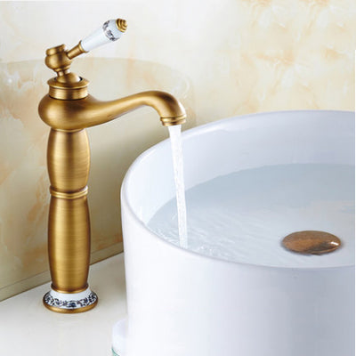 Free shipping Contemporary Antique Brass faucets Bathroom Sink Basin ...
