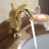 New Design Swan Basin Faucet - Luxury Copper and Gold Colors Antique Faucets