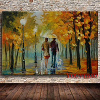 Modern Knife Oil Painting On Canvas Abstract Park Landscape Art Pictures Set Handmade Home Wall Decorative Gift For Living Room