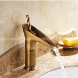 Antique Brass Basin Waterfall Taps Faucets