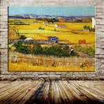 Handmade The Harvest (Wheatfields) Reproduction Vincent Van Gogh Oil Painting On Canvas For Home Decor
