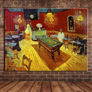 Starry Night Of Vincent van Gogh Handmade Reproduction Oil Painting On Canvas Wall Art Picture For Living Room Home Decoration