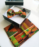 Afro Bowtie and Pocket Square