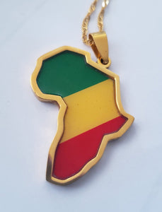 Colored Africa Pendant
