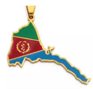 Eritrea map necklace