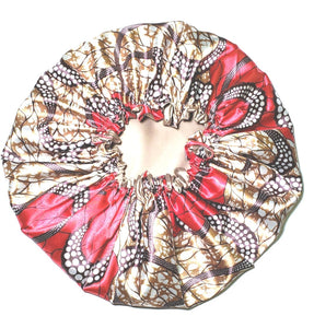 """Tia"" Reversible Satin Bonnet"
