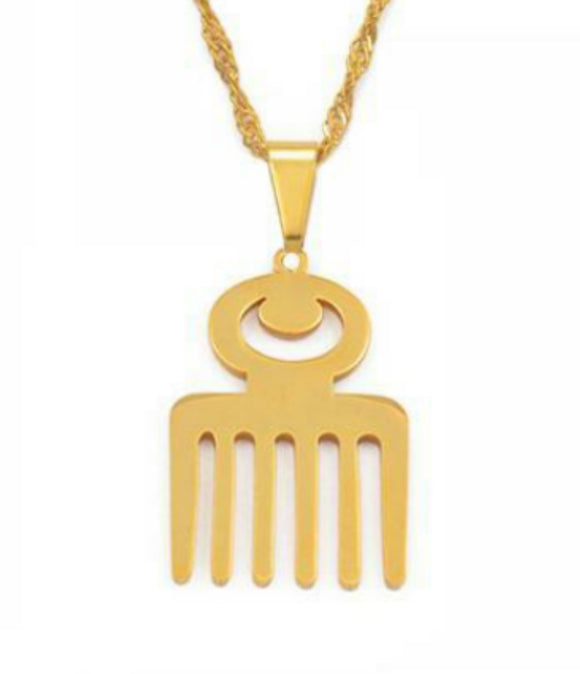 Comb Necklace Adinkra