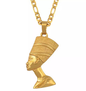 Gold Nefertiti Necklace