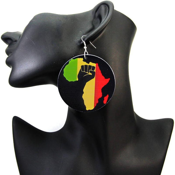 Power fist africa Earrings